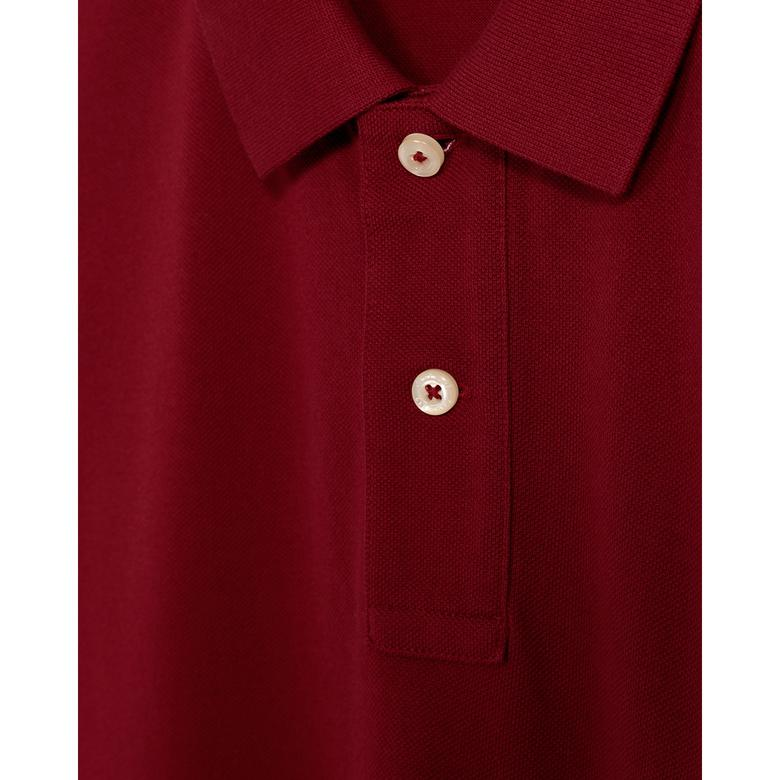 Gant Erkek Bordo Regular Fit Piqué Polo
