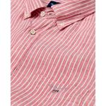 Gant Erkek Kırmızı Regular Fit Keten Banker Gömlek