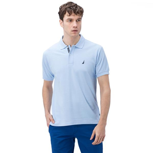 Nautica Erkek Açık Mavi Kısa Kollu Polo