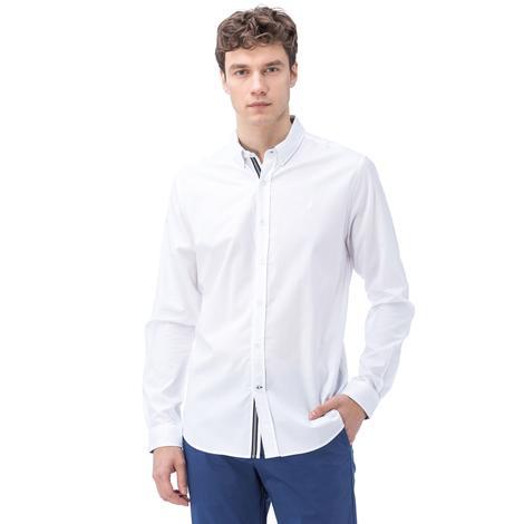 Nautica Erkek Beyaz Uzun Kollu Oxford Slim Fit Gömlek