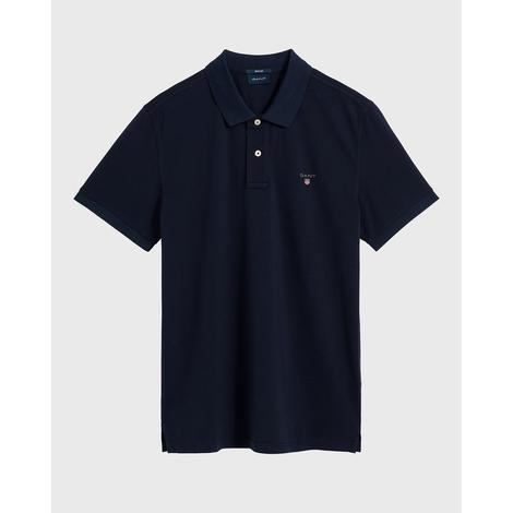 Gant Erkek Lacivert Regular Fit Pique Polo
