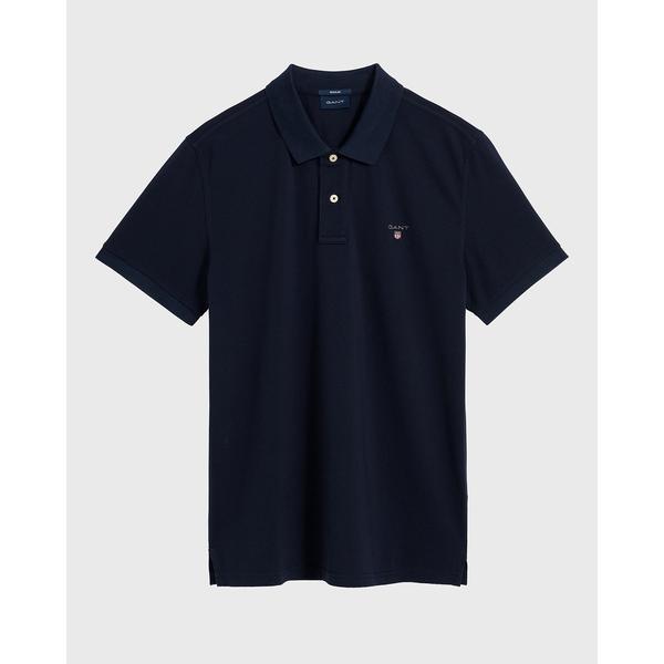 GANT Erkek Lacivert Regular Fit Kısa Kollu Polo