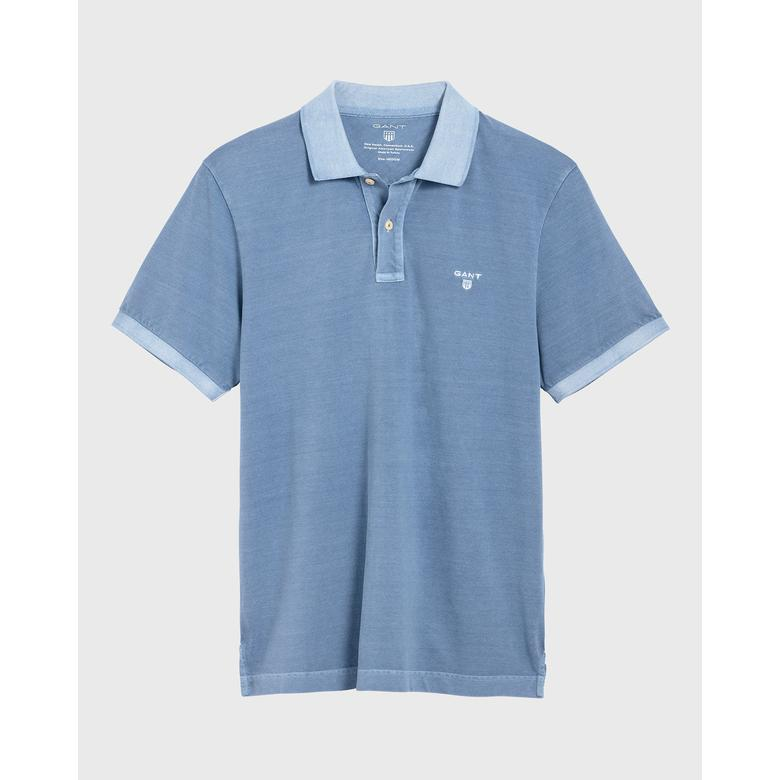 Gant Erkek Açık Mavi Regular Fit Piqué Rugger Polo