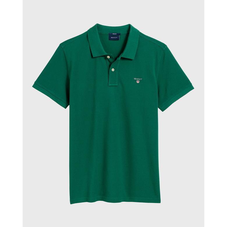 Gant Erkek Yeşil Regular Fit Piqué Polo
