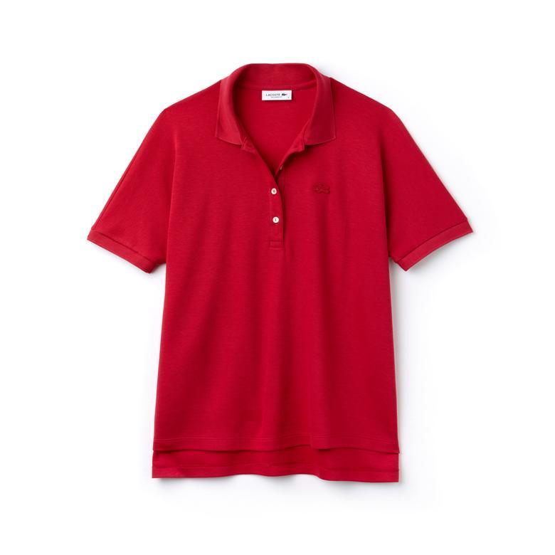 Lacoste Motion Relax Fit Kadın Kırmızı Kısa Kollu Polo