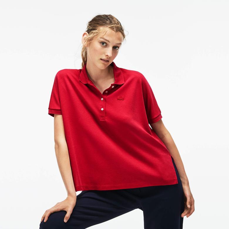 Lacoste Relax Fit Kadın Kırmızı Polo