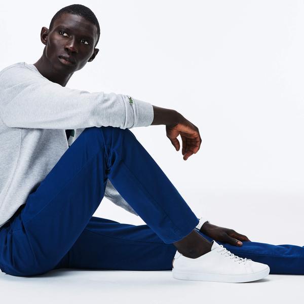 Lacoste Erkek Slim Fit Gabardin Mavi Pantolon
