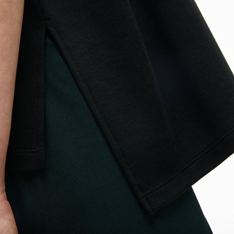 Lacoste Motion Relax Fit Kadın Siyah Kısa Kollu Polo