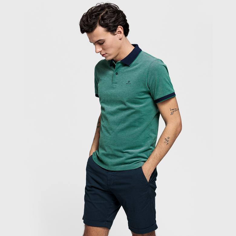 Gant Erkek Yeşil Regular Fit Piqué Rugger Polo