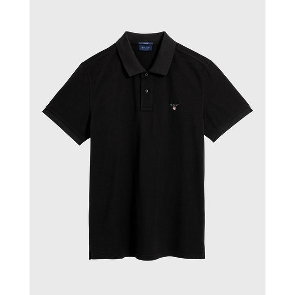 GANT Erkek Siyah Kısa Kollu Regular Fit Polo