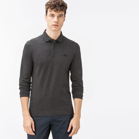 Lacoste Erkek Gri Regular Fit Polo