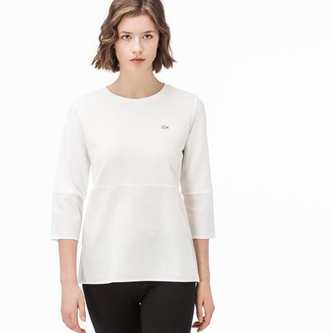 Lacoste Kadın Ekru T-Shirt