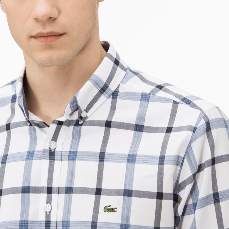 Lacoste Erkek Regular Fit Mavi Ekose Gömlek