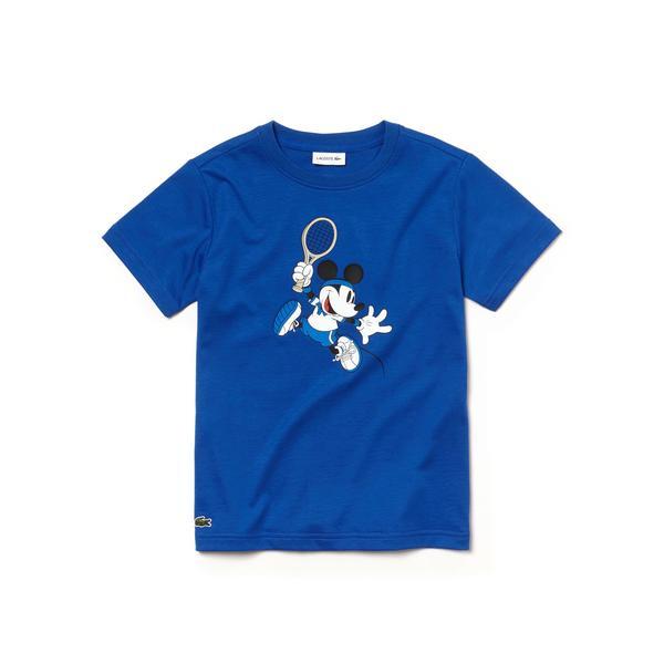 Lacoste x Disney Çocuk Mavi T-Shirt