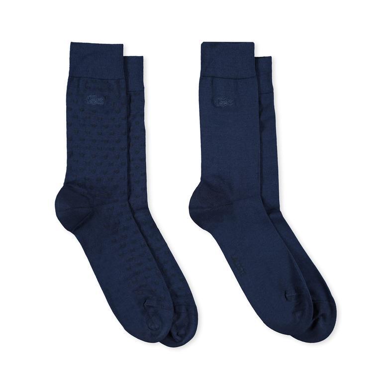 Lacoste Erkek 2'li Mavi Çorap