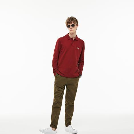 Lacoste Erkek L1212 Koyu Kırmızı Polo