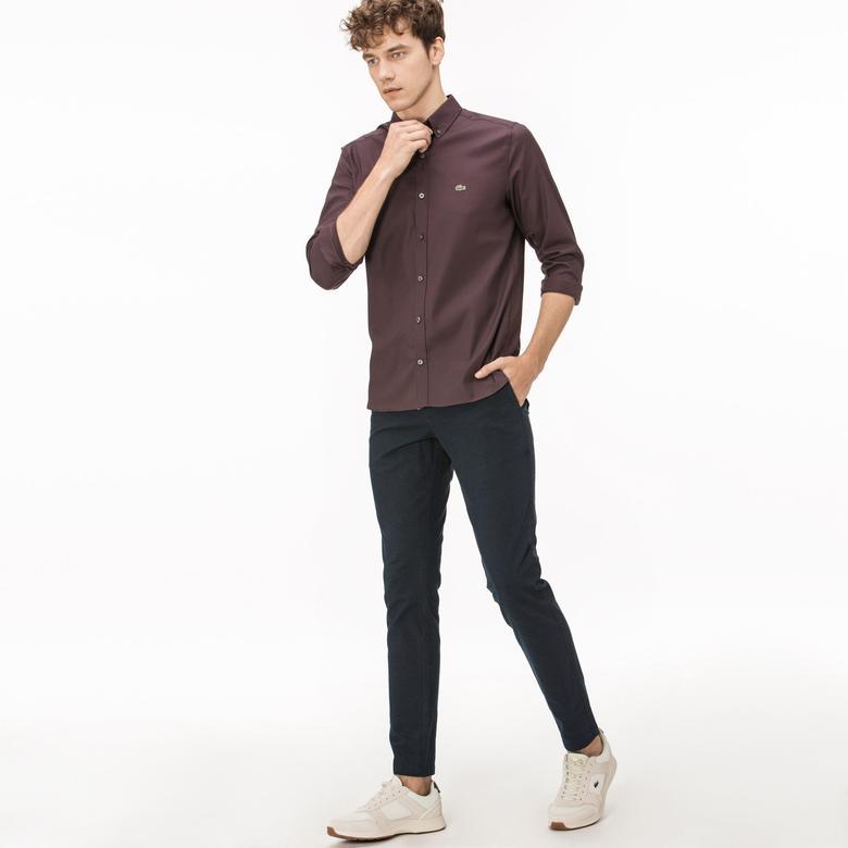 Lacoste Erkek Desenli Lacivert Pantolon