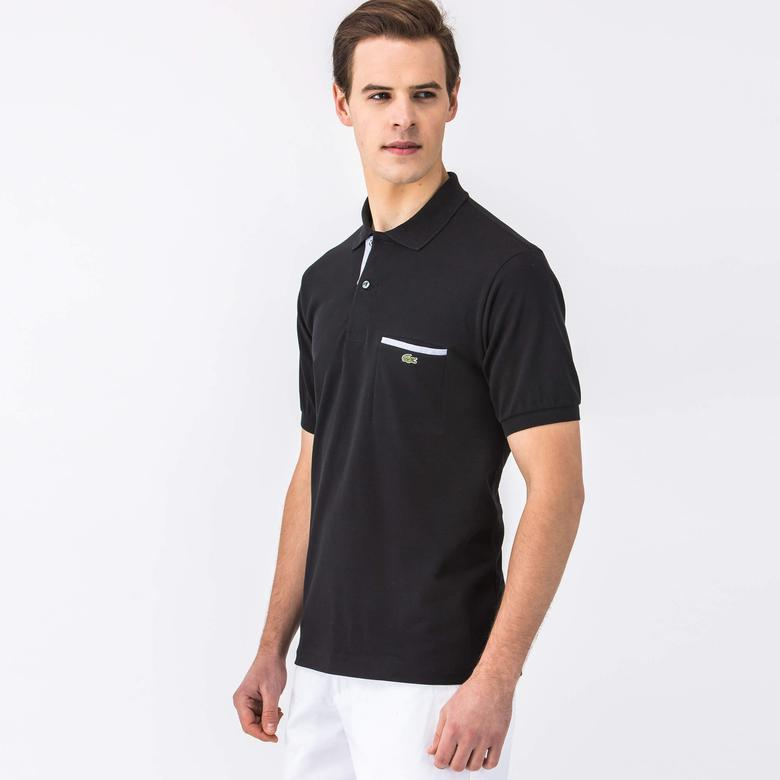 Lacoste Erkek Siyah Regular Fit Kısa Kollu Polo