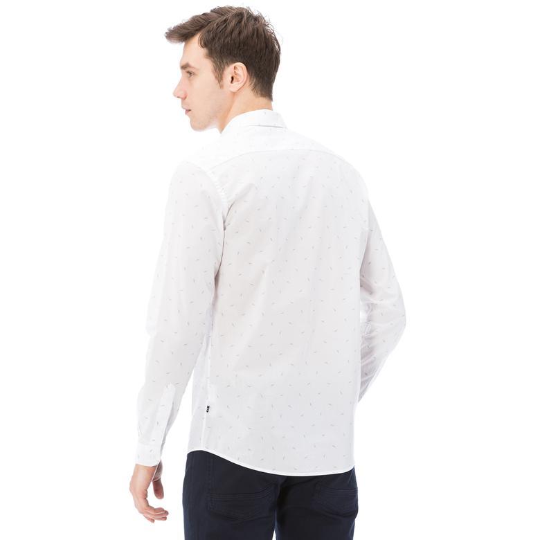 Nautica Erkek Beyaz Uzun Kollu Slim Fit Gömlek