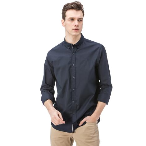 Nautica Erkek Lacivert Uzun Kollu Oxford Slim Fit Gömlek