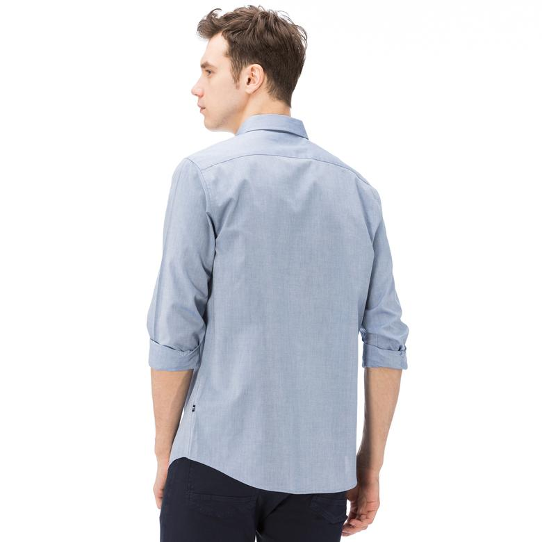 Nautica Erkek Mavi Uzun Kollu Oxford Slim Fit Gömlek