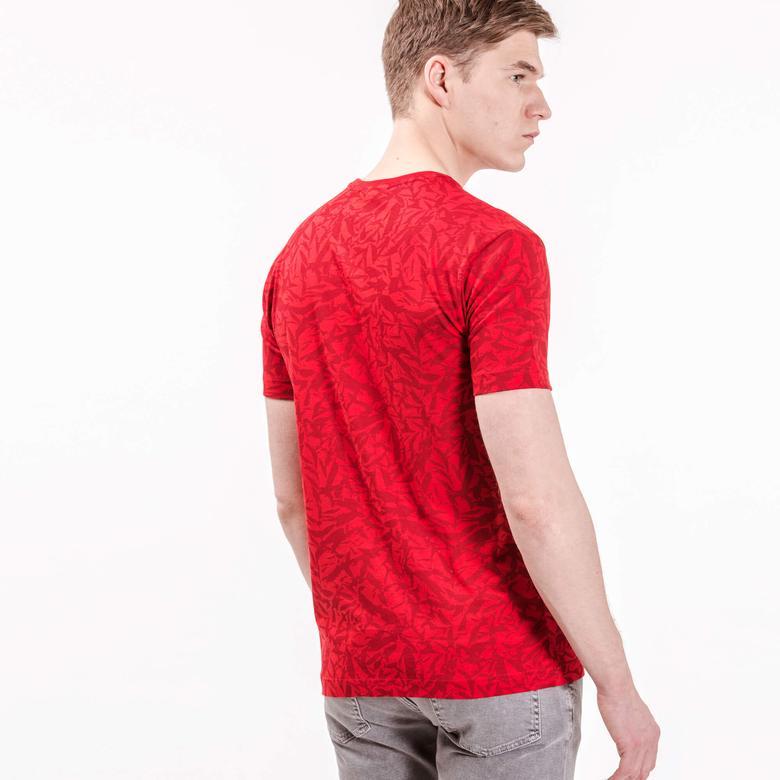 Lacoste Erkek Kırmızı Slim Fit T-Shirt