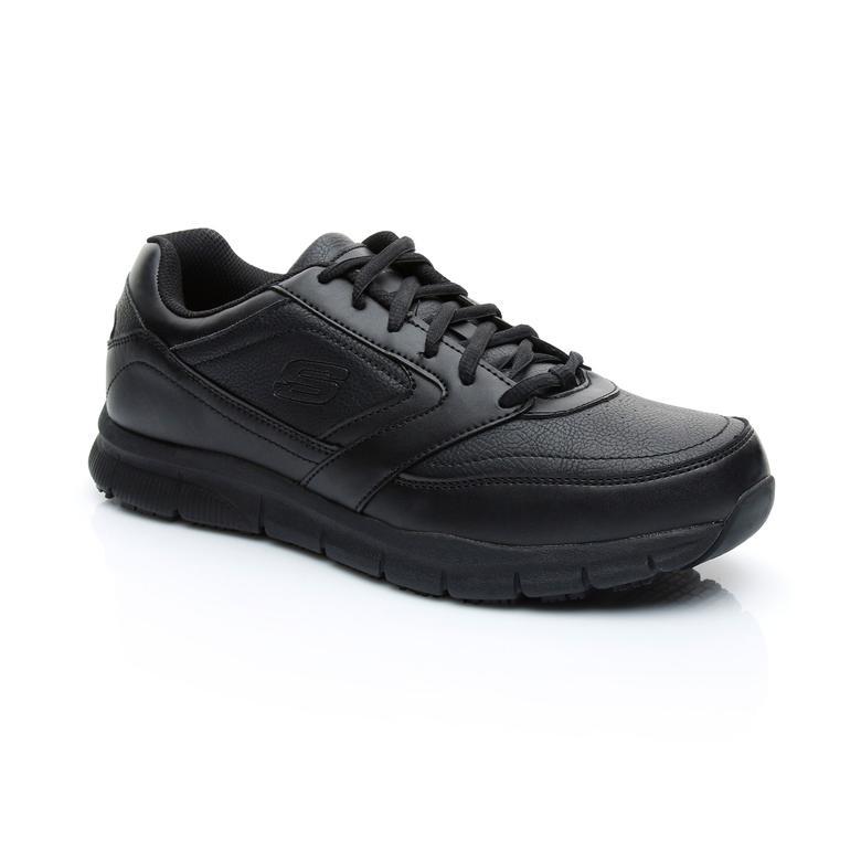 Skechers Work Relaxed Fit Nampa SR Erkek Siyah Sneaker