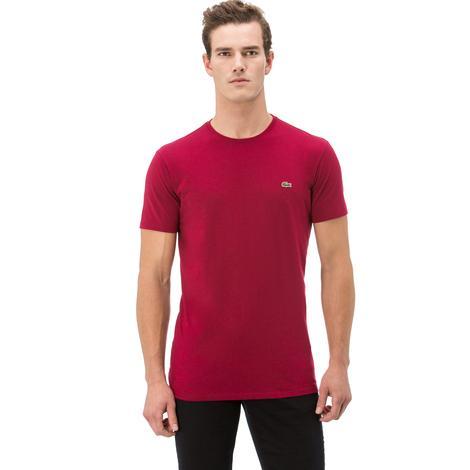 Lacoste Erkek Kırmızı Bisiklet Yaka T-Shirt