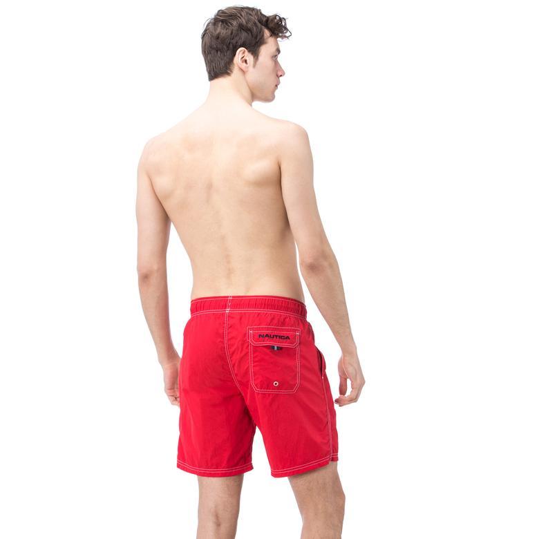 Nautica Erkek Kırmızı Uzun Mayoşort