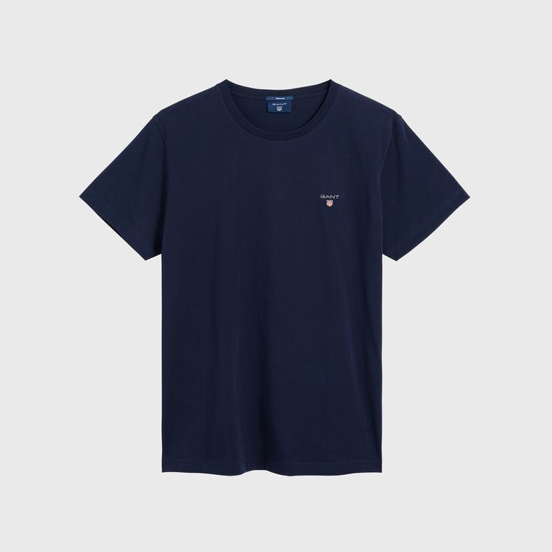 GANT Erkek Lacivert Regular Fit T-Shirt