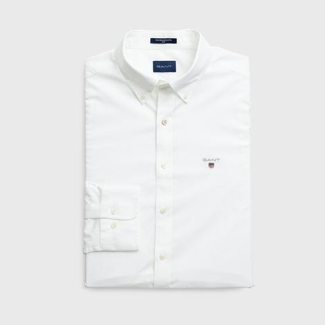 Gant Slim Fit Erkek Beyaz Uzun Kollu Gömlek