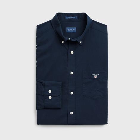 GANT Erkek Lacivert Regular Fit Broadcloth Gömlek