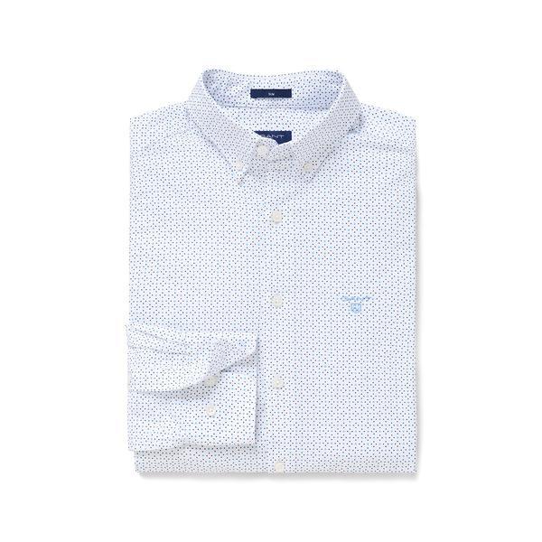 Gant Erkek Mavi Puantiyeli Micro Dot Diamond Slim Fit Gömlek
