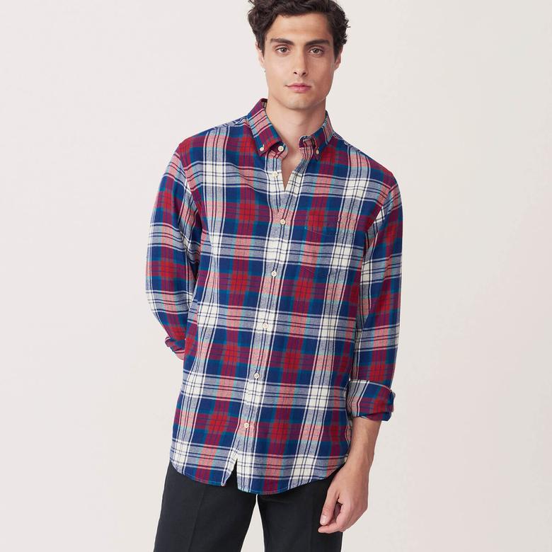 Gant Erkek Lacivert Oduncu Regular Gömlek