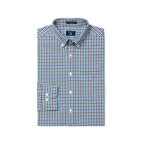 Gant Erkek Lacivert Kareli Regular Oxford Gömlek