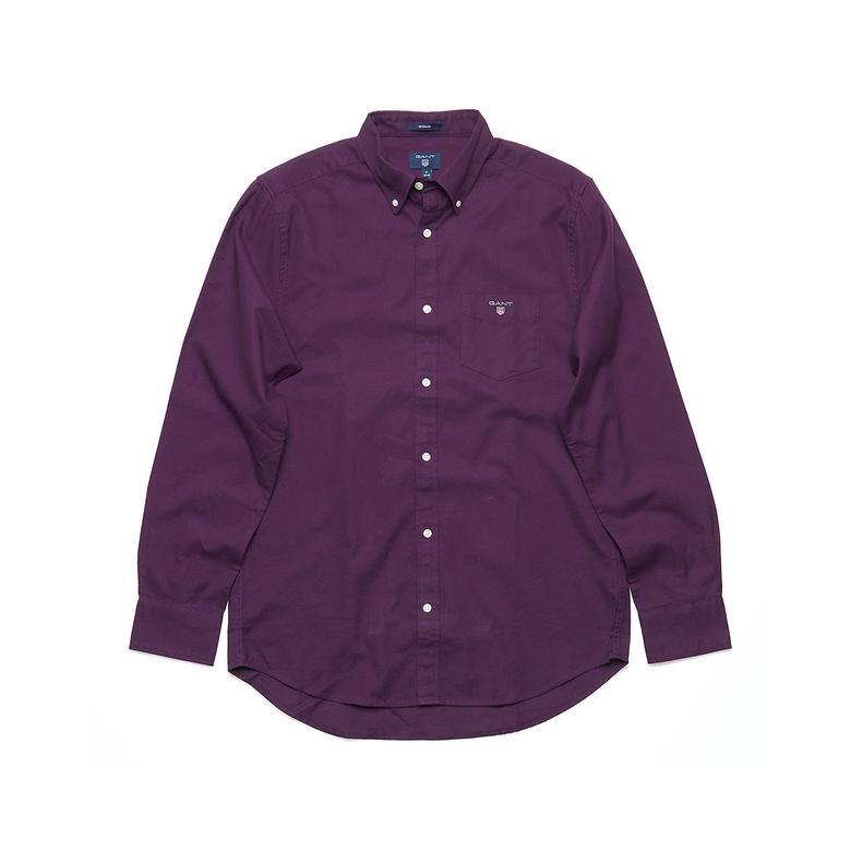 Gant Erkek Mor Regular Brushed Oxford Gömlek
