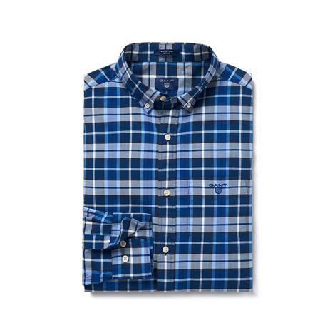 Gant Erkek Mavi Regular Winter Twill Plaid Gömlek
