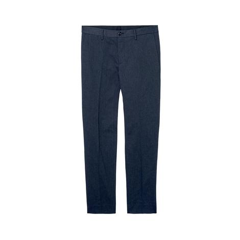 Gant Erkek Lacivert Slim Herringbone Slacks Pantolon