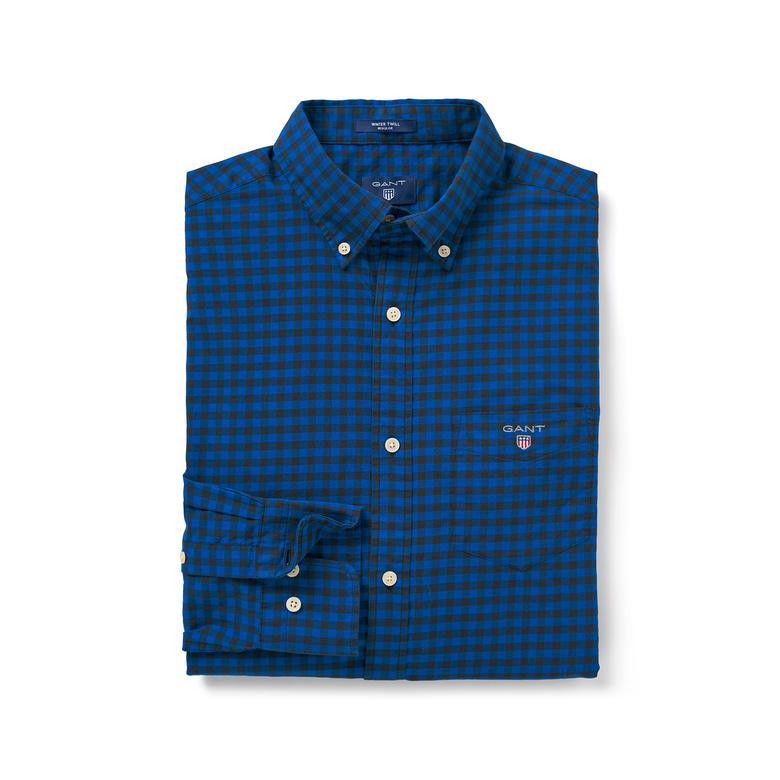 Gant Erkek Mavi Winter Twill Buffalo Regular Fit Gömlek