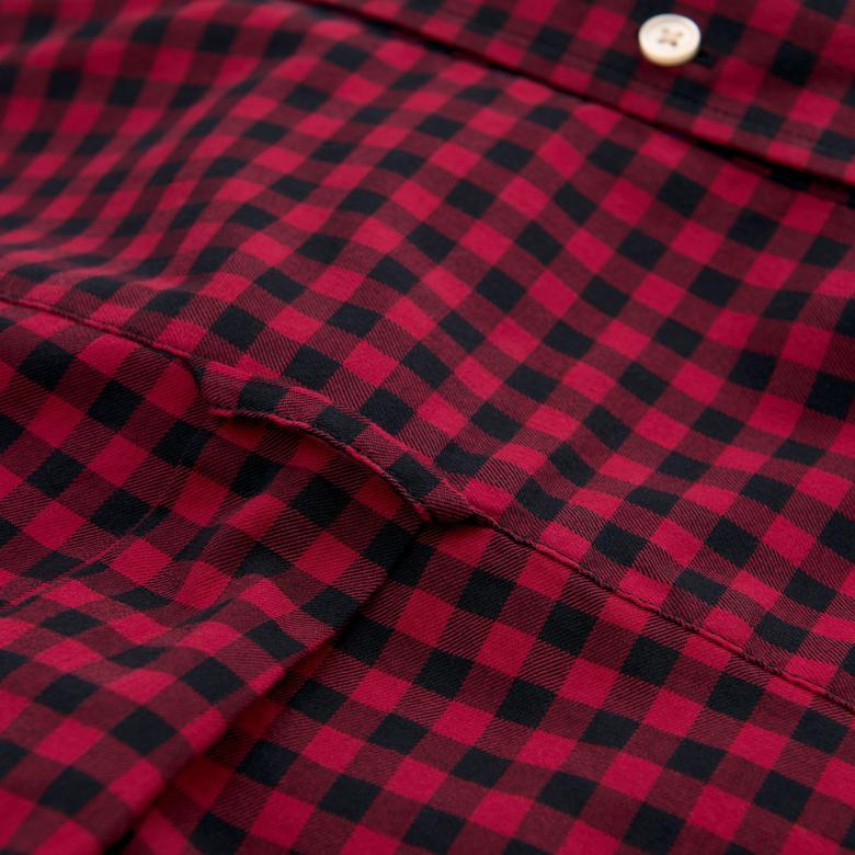 Gant Erkek Kırmızı Winter Twill Regular Fit Gömlek