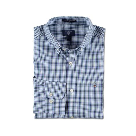 Gant Erkek Mavi Kareli Slim Fit Gömlek