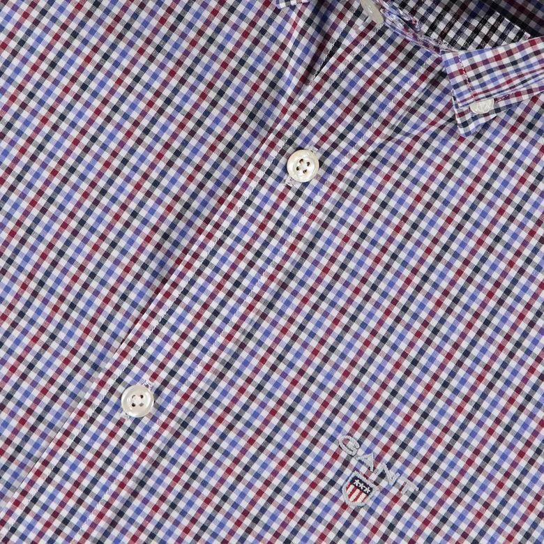 Gant Erkek Kırmızı Kareli Slim Fit Gömlek