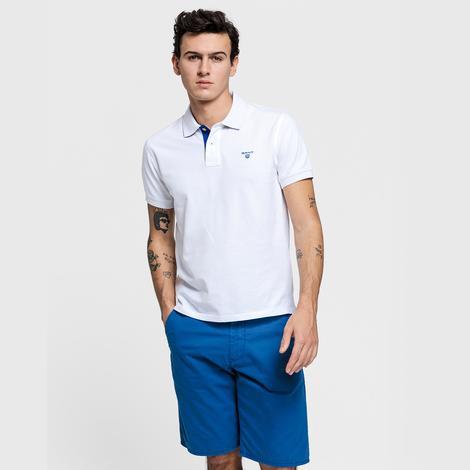 Gant Erkek Beyaz Regular Fit Piqué Rugger Polo