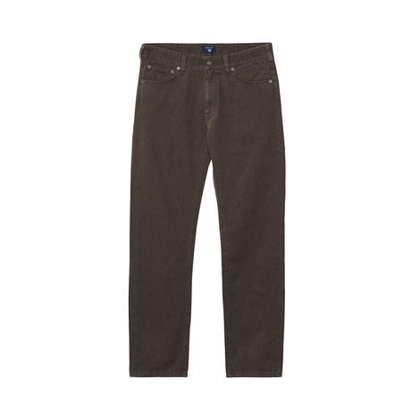 Gant Erkek Regular Straight Soft Twill Kahverengi Jean Pantolon
