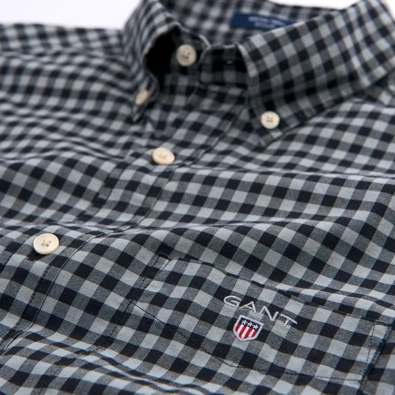 Gant Erkek Siyah Kareli Regular Gömlek