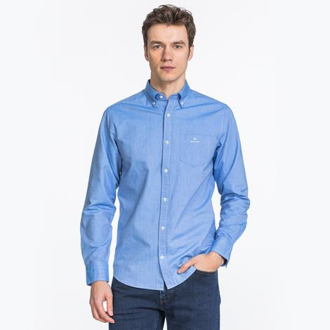 Gant Erkek Mavi Regular Fit Beefy Oxford Gömlek
