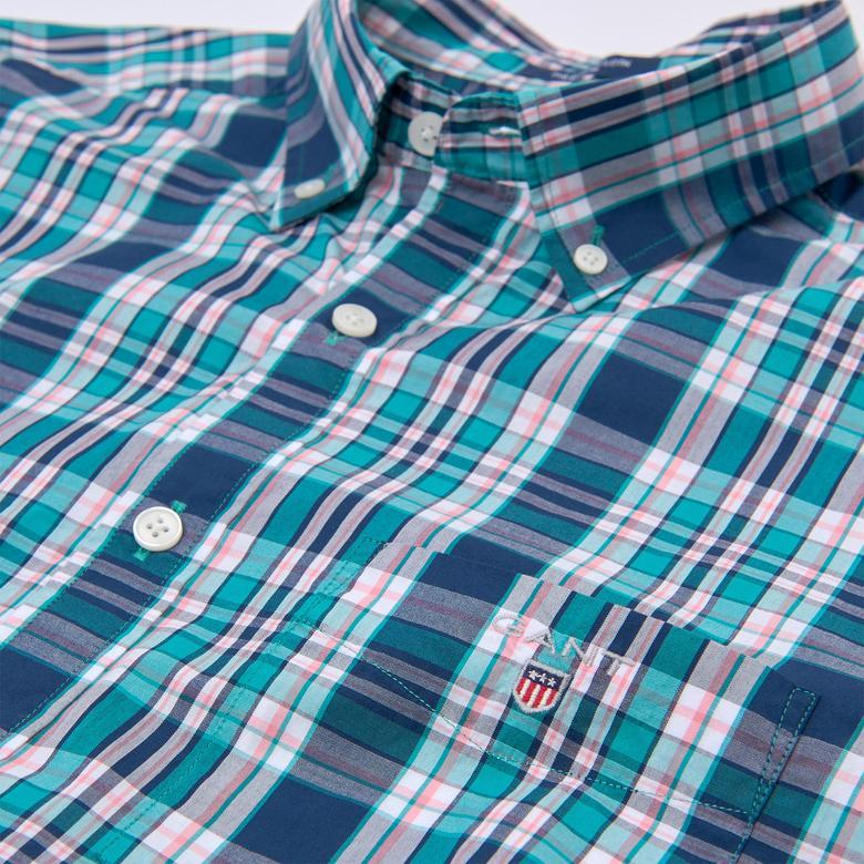 Gant Erkek Yeşil Kareli Regular Fit Gömlek