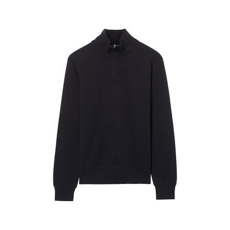 Gant Erkek Siyah Fermuarli Triko Sweatshirt