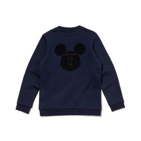 Lacoste X Disney Çocuk Mickey Baskılı Lacivert Sweatshirt