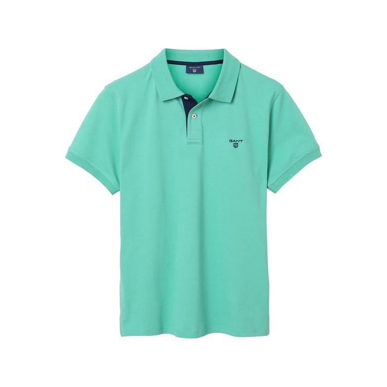 Gant Erkek Yeşil Fitted Regular Fit Polo
